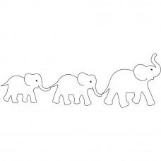 Трафарет для простёгивания Слоны (EL 402)