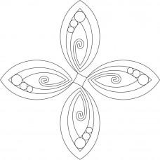 Трафарет для простёгивания Продолговатые вихри (EL 405)