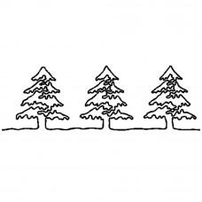 Трафарет для простёгивания Елочки (FC 11)