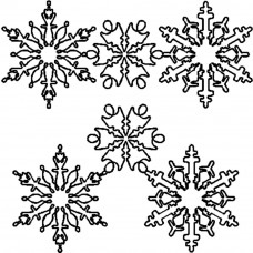 Трафарет для простёгивания Снежинки (FC 14)