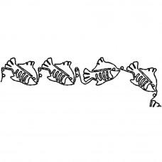 Трафарет для простёгивания Рыбки в ряд (FC 43)