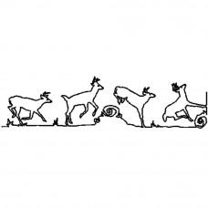Трафарет для простёгивания Бегущий олень (FC 7)