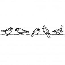Трафарет для простёгивания Птички на проволоке (FC 8)