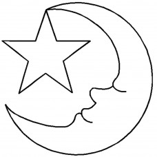 Трафарет для простёгивания Месяц и звезда (HW)