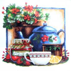 Набор для вышивания крестиком Чарівна мить Чай с клубникой (СТ-33)