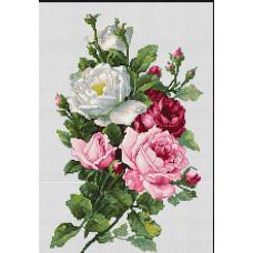 Набор для вышивания крестом Luca-S Букет из роз (BA22855)