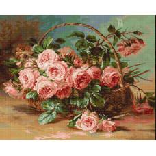 Набор для вышивания крестом Luca-S Корзина с розами (B547)