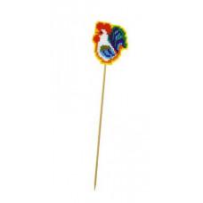 Набор для вышивания крестом Риолис Украшение для цветов Петушок на палочке (1582АС)