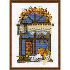 Набор для вышивания крестом Риолис Осеннее окошко (1593)