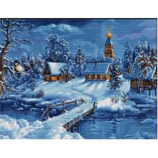 Набор для вышивания крестом Luca-S Зимний пейзаж (B447)