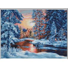 Набор для вышивания крестом Luca-S Зимний пейзаж (B477)