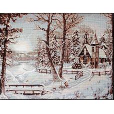 Набор для вышивания крестом Luca-S Зимний пейзаж (B321)