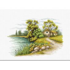 Пейзаж с озером (B2283)