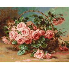 Корзина с розами (G547)