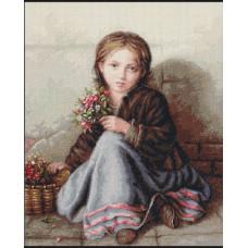 Девочка с цветами (B513)