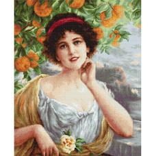 Набор для вышивания крестом Luca-S Красавица под апельсиновым деревом (B546 )