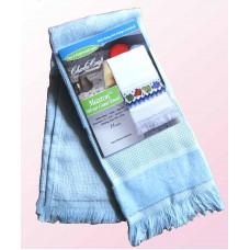 Велюровое полотенце голубое (VT6910 5708)
