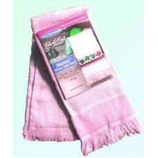 Велюровое полотенце розовое (VT6910 4662)