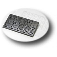 Форма для шоколада Плитка-Петушки (057)