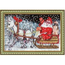 Набор для вышивания бисером Золотое руно Веселые праздники (РТ-063)