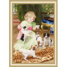 Набор для вышивания крестиком Золотое руно Вечерний чай (ЧМ-050)