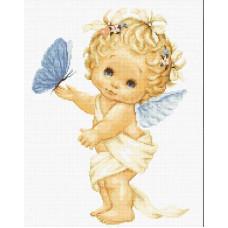 Ангелочек с бабочкой (B368)