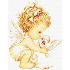 Ангелочек с голубями (B369)