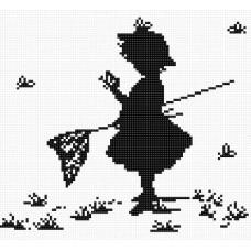 Девочка с бабочками (B287 )