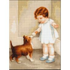Девочка с собакой (B372)