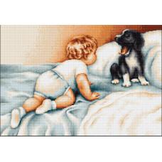 Мальчик с собакой (B374)