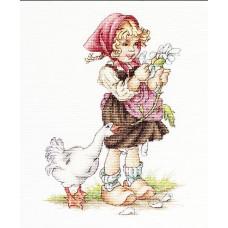Девочка с гусем (B1047)