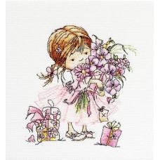 Девочка с букетом (B1055)