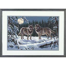 Набор для вышивания Dimensions Волки в ночи (12153)