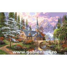 Набор для вышивания GOBLENSET Часовня в горах (G1023)