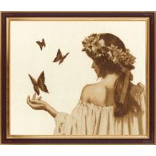 Девушка с бабочками (ГТ-036)*