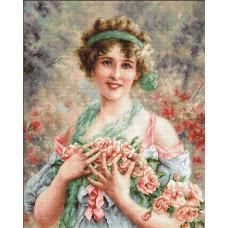Девушка с розами (G553)