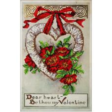 Набор для вышивания бисером Краса і творчість День Св. Валентина 2 (20115)