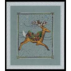 Набор бисера MillHill для дизайна Mirabilia Dasher- Christmas Eve Couriers (NC113E)