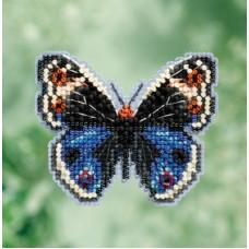Набор для вышивания Mill Hill  Бабочка Синие анютки (MH181711)