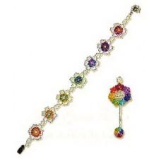 Набор для бисероплетения Риолис Браслет и кулон Цветы (Б-098)
