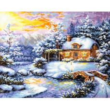 Набор для вышивания крестиком Чудесная игла Зимняя сказка (45-08)