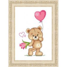 Набор для вышивания крестиком Сделано с любовью Первая любовь (МК-026)