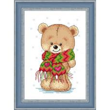 Набор для вышивания крестиком Сделано с любовью Мой теплый шарфик (МК-028)