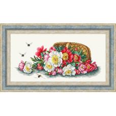 Набор для вышивания крестиком Сделано с любовью Ароматный букет (ЦВ-070)