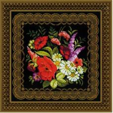 Набор для вышивания крестом Риолис Подушка/панно Жостовская роспись (1642)
