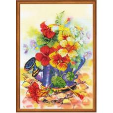 Набор для вышивания крестом Риолис Садовая лейка (РТ-0068)