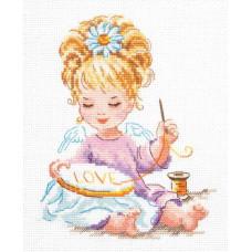 Набор для вышивания крестиком Чудесная игла Маленькая рукодельница (33-24)