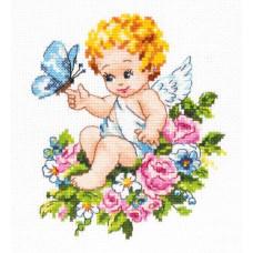 Набор для вышивания крестиком Чудесная игла Ангел нашей любви! (35-19)