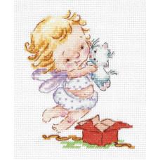 Набор для вышивания крестиком Чудесная игла Люблю подарочки! (35-23)