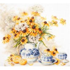 Набор для вышивания крестиком Чудесная игла Цветочный чай (50-08)